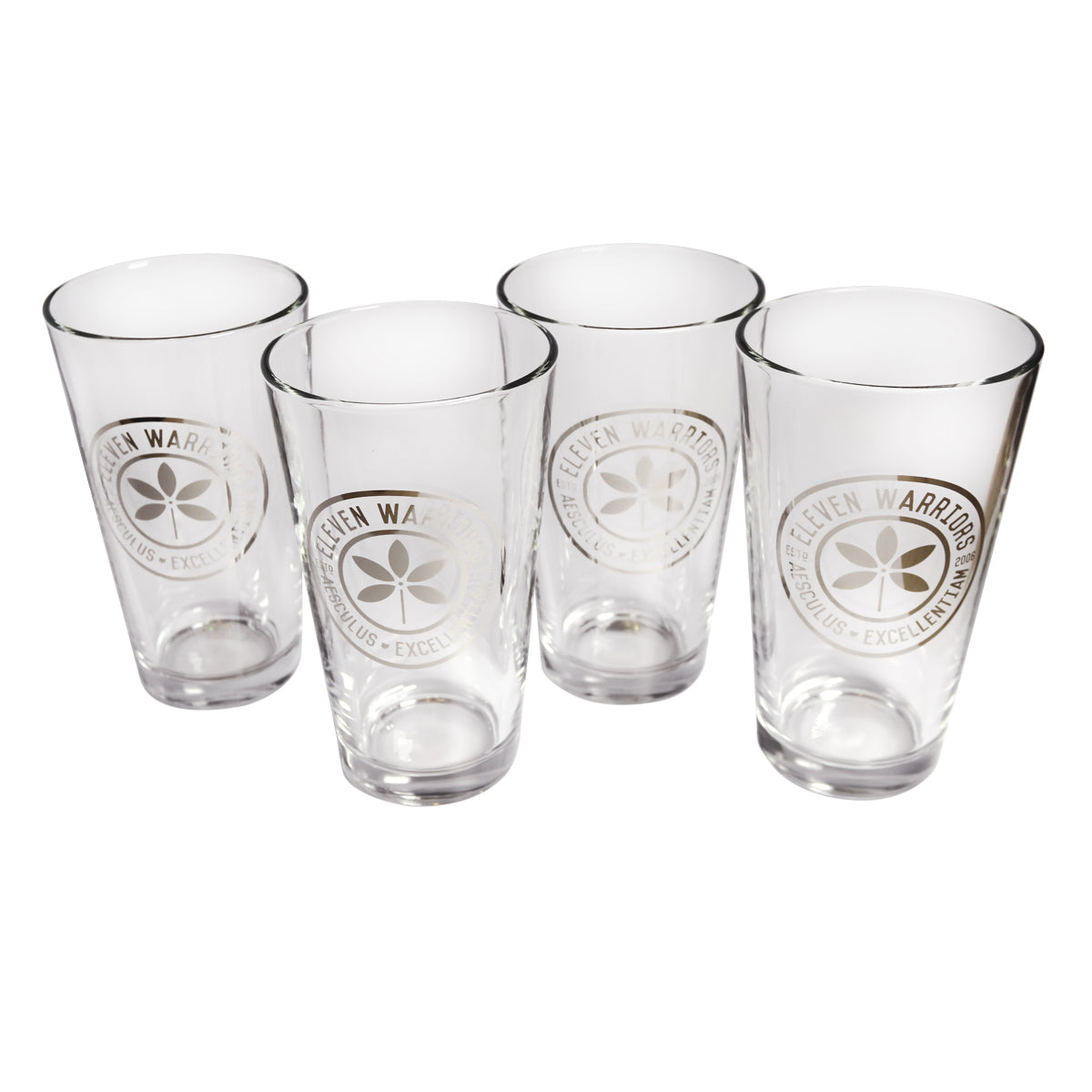 Eleven Warriors 16 oz. Pint Glass (4-Pack)