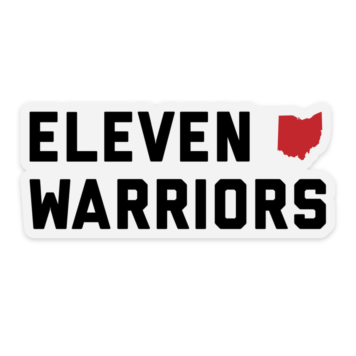 Eleven Warriors Clear Sticker