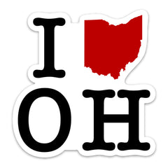 I Heart OH Sticker