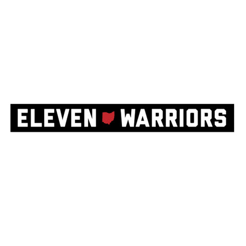 Eleven Warriors Thin Bumper Sticker