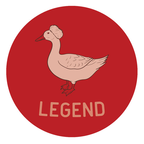 Afroduck Legend Sticker