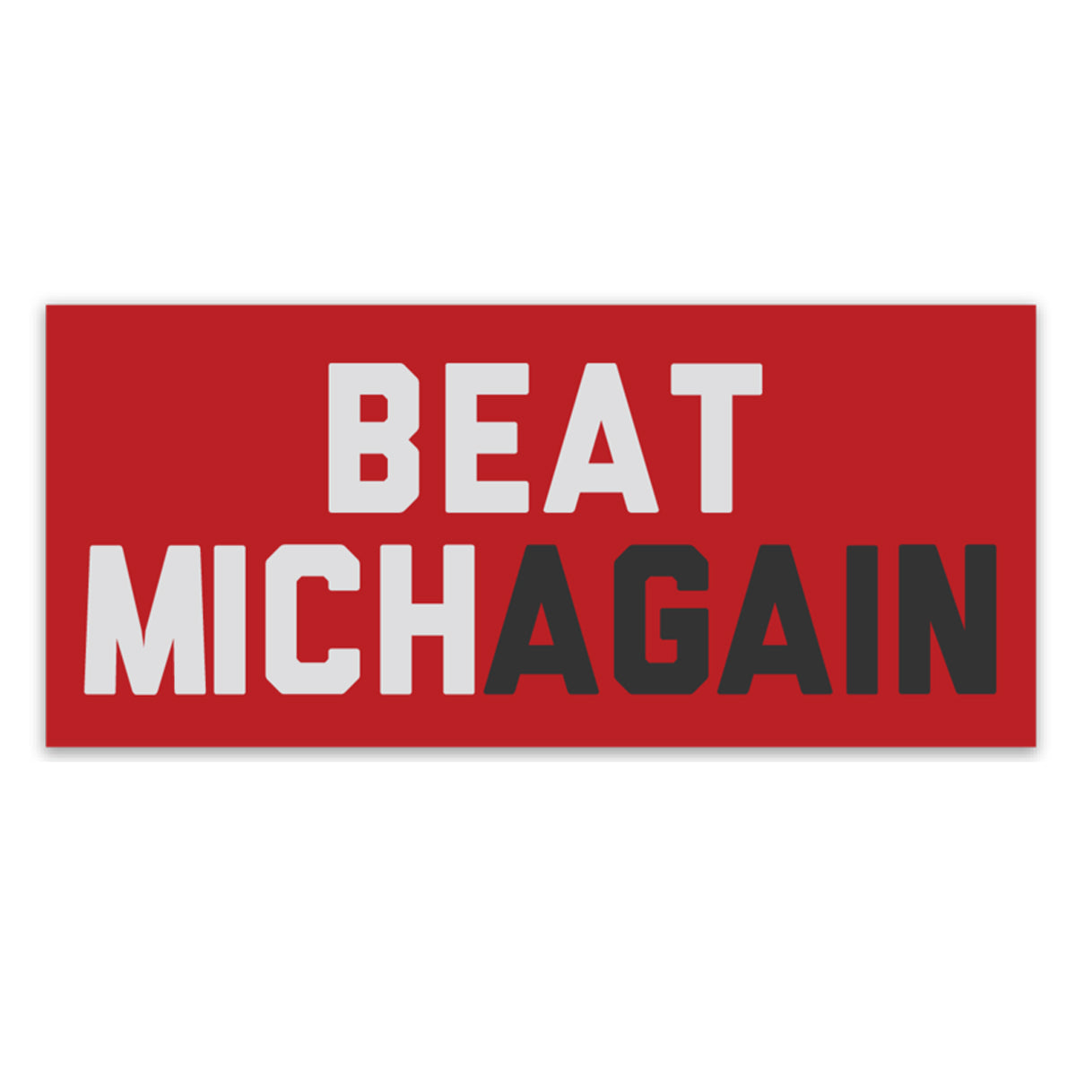 Beat Michagain Sticker