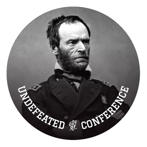 Sherman Undefeated Out of Conference Sticker