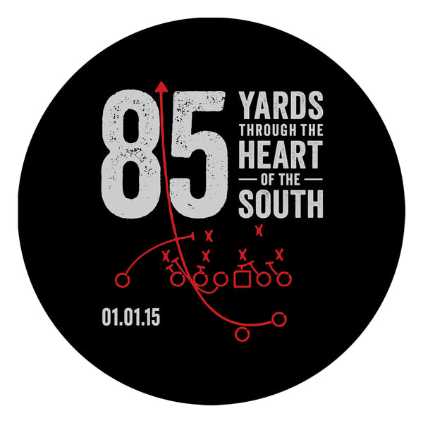 85 Yards Through The Heart Of The South Sticker Eleven