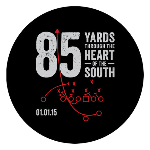 85 Yards Through the Heart of the South Sticker