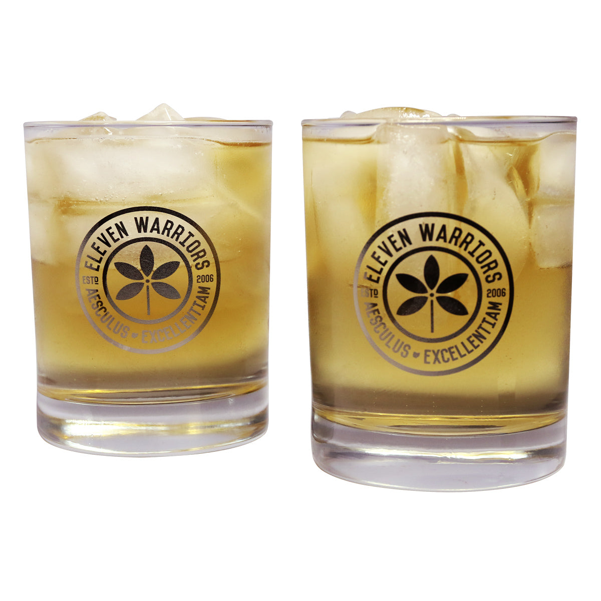 Eleven Warriors 13.5 oz. Whiskey Glasses (4-Pack)