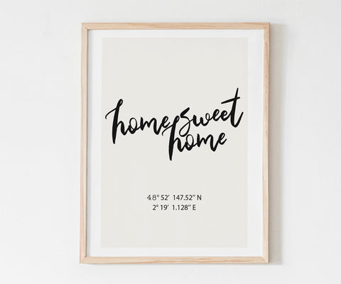 Affiche personnalisable Home sweet home