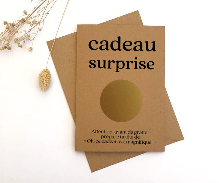 Carte à gratter personnalisable Cadeau surprise