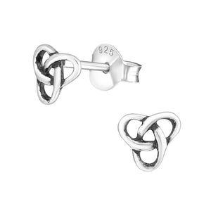 New 925 Sterling Silver Celtic Triquetra Knot Stud Earrings Jewellery