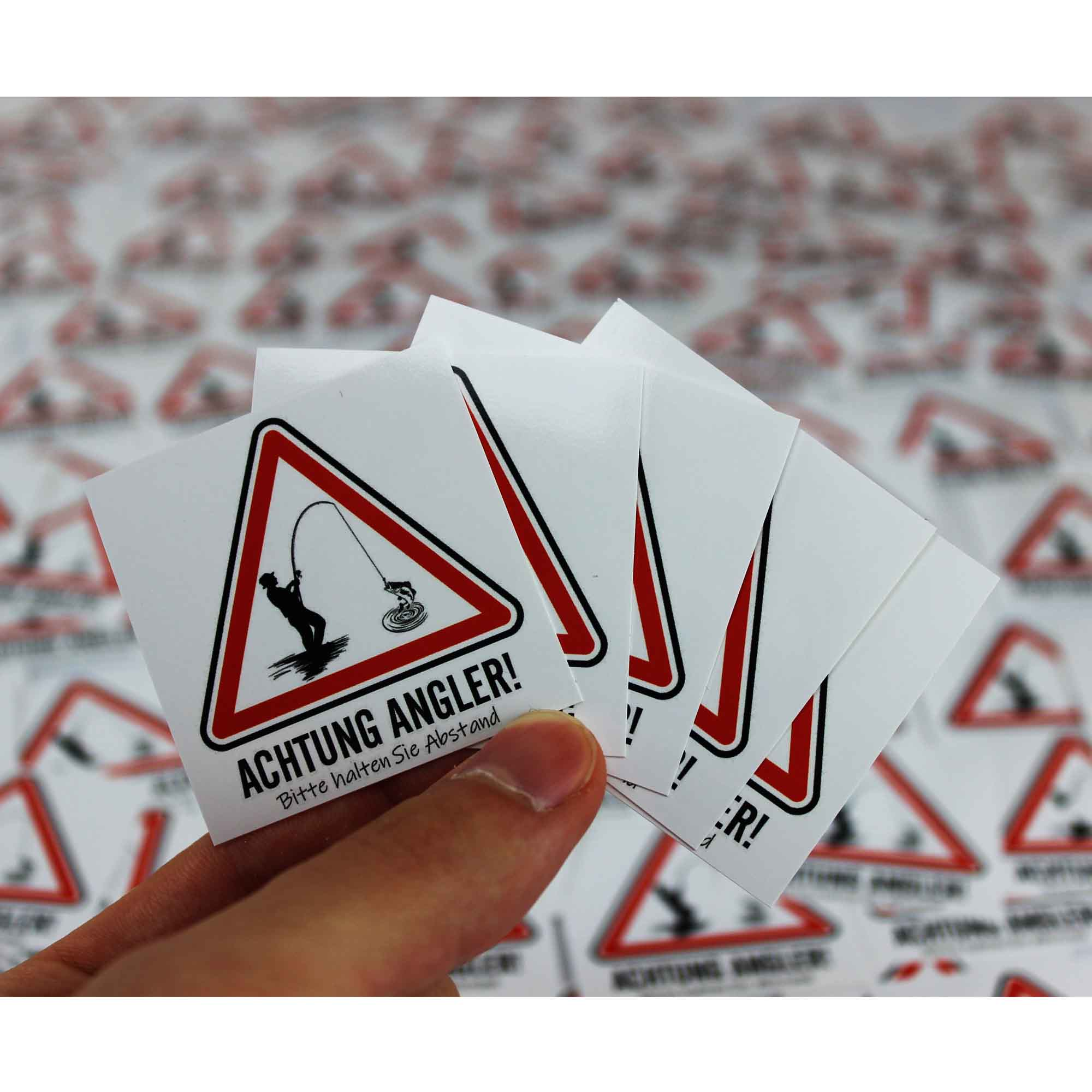 Sticker - Achtung Angler - Angel-Bude
