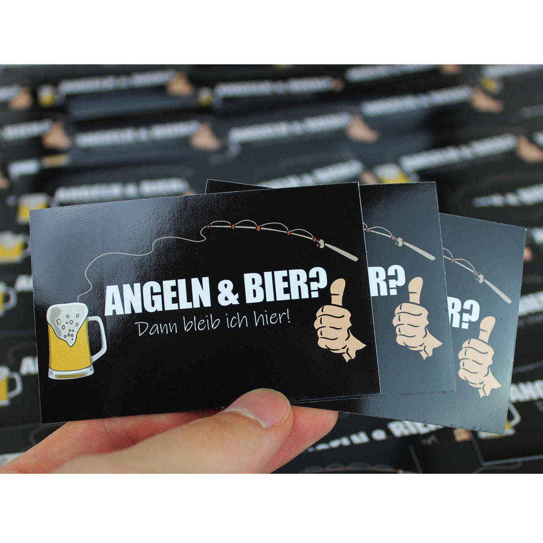 Sticker - Angel & Bier - Angel-Bude