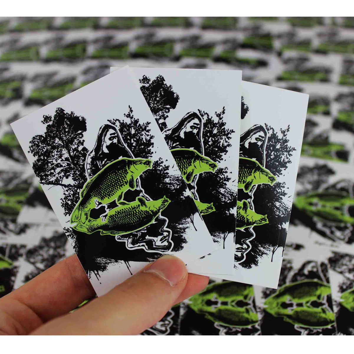 Sticker - Nature Fishing Sticker - Angel-Bude