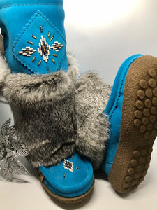 "Laurentian Chief Waterproof Mukluks - 13"" Aqua"