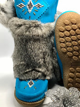 "Load image into Gallery viewer, Laurentian Chief Waterproof Mukluks - 13"" Aqua"