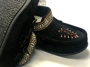 Laurentian Chief - Nation Fringed, Beaded, Lined with 5MM Gum Sole