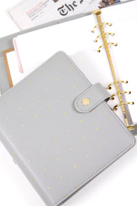 A5 Undated Planner - Gray Polka