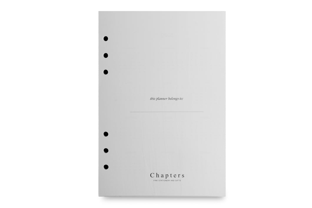 Notes Page Inserts for Chapters Personal Planner