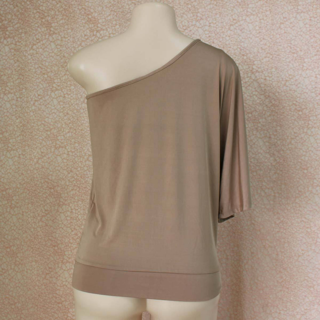 Brown one shoulder top