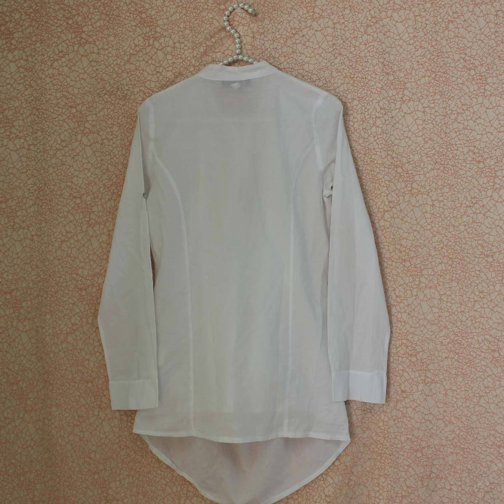 White polyester top