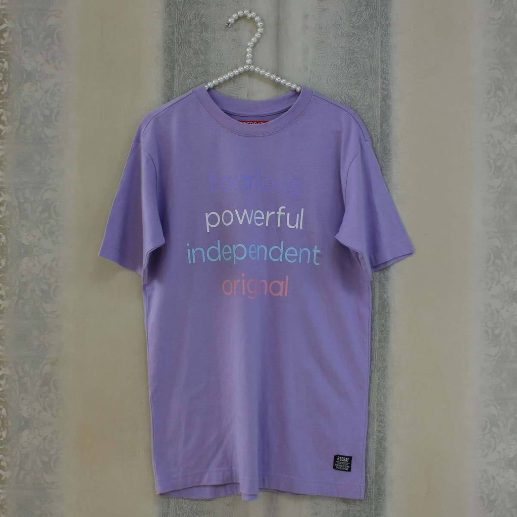 Purple fearless t-shirt
