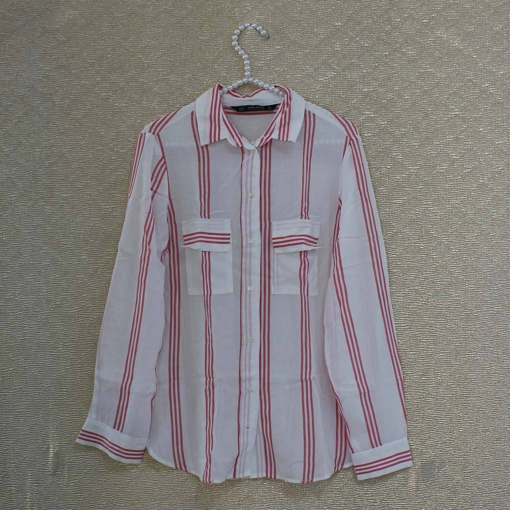 White red stripped blouse