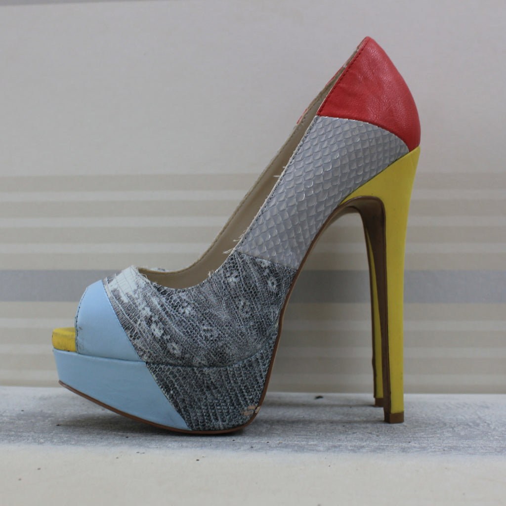 Multicolour Peep Toe