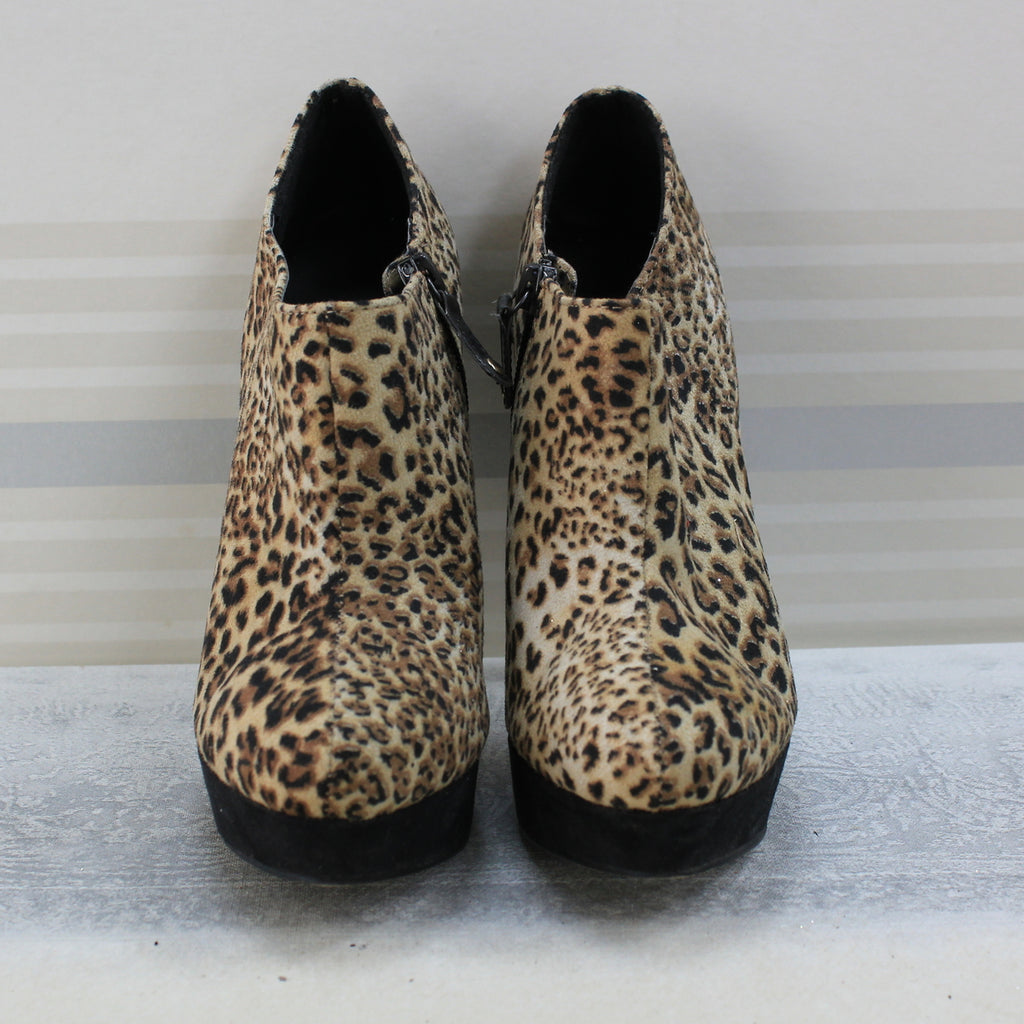 Animal print ankle boot