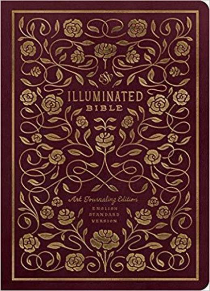 ESV Illuminated Bible, Art Journaling Edition TruTone®, Burgundy