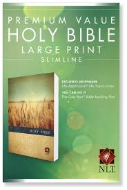 Premium Value Slimline Bible Large Print NLT (Softcover)