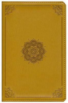 ESV Compact Bible--soft leather-look, goldenrod