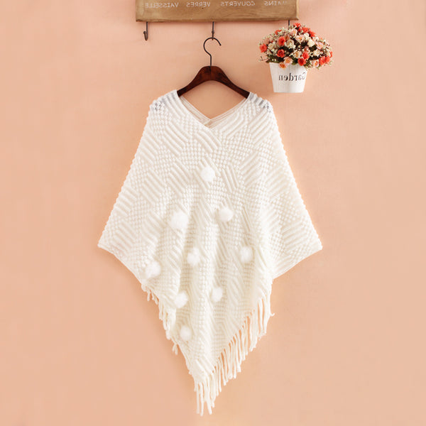 Plus Size Knitted Poncho