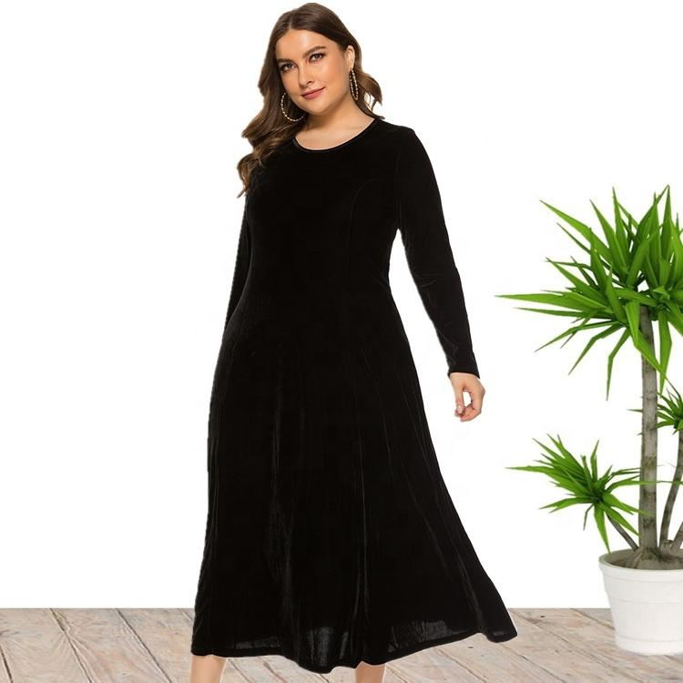 Plus Size Prom Evening Velvet Dress