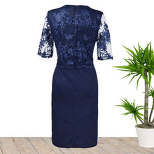 Load image into Gallery viewer, Ciaobella Plus Size Elegant Blue Lace Dress