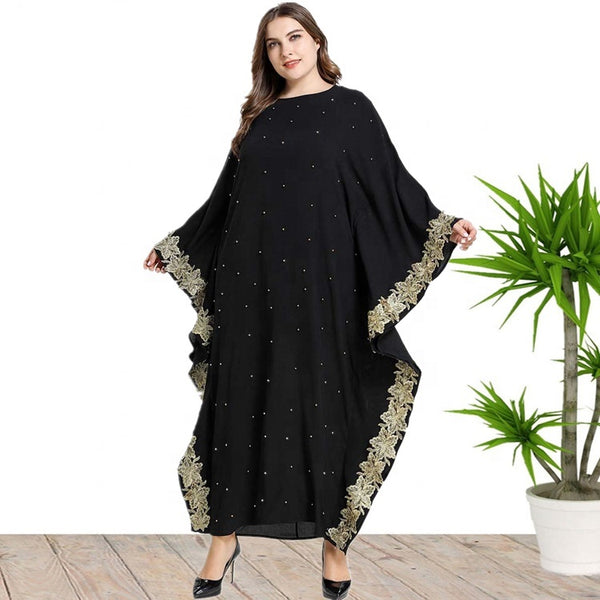 Ciaobella Embroidered Bat Sleeve Dress