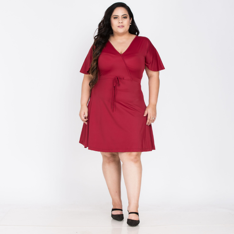 Elegant Red Middy Dress