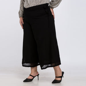 Open image in slideshow, Plus Size Wide Loose Chiffon Anklet Length Pant