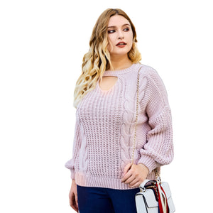 Plus Size Sweaters Knit Jumper Pullovers