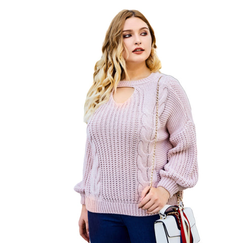 Plus Size Sweaters Knit Jumper Pullovers Sale