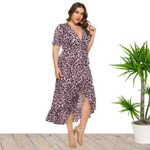 Load image into Gallery viewer, Ciaobella Elegant Plus Size Leopard Dress