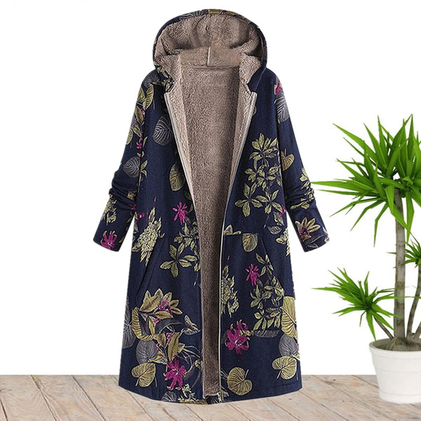 Plus Size Hooded Long Winter Warm Coat