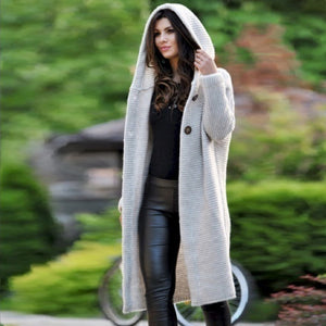 Plus Size Knitted long Coat