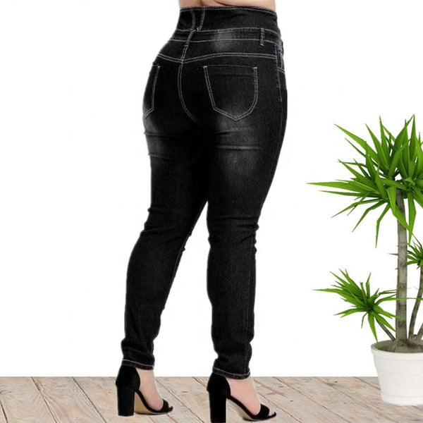 High Waist Pencil Denim Pants Jeans