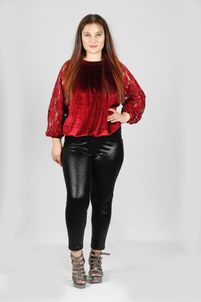 Plus Size Velvet top