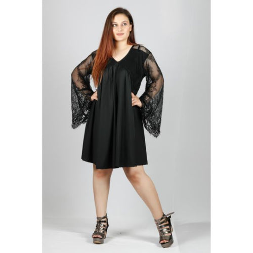 Plus Size Designer Sleeve Party Dress