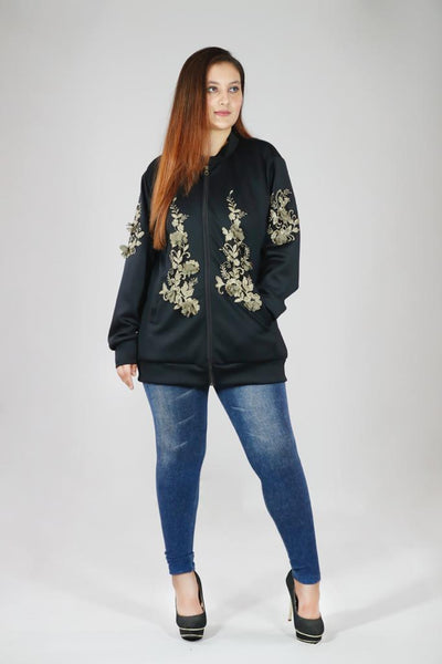 Embroidered Patchwork Jacket