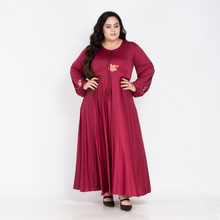 Load image into Gallery viewer, Plus Size Embroidered O-Neck Casual Dress