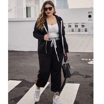 Plus Size Causal Sportswear Set