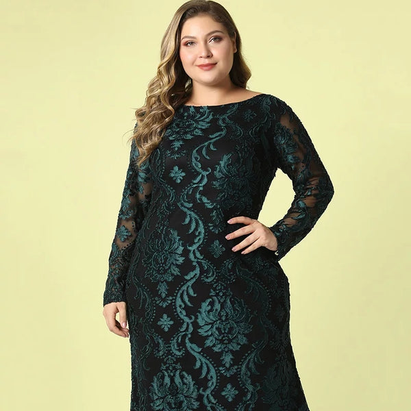 Casual Embroidery Maxi Party Dress