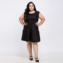 Load image into Gallery viewer, Plus Size Sequin Patchwork Backless Dress