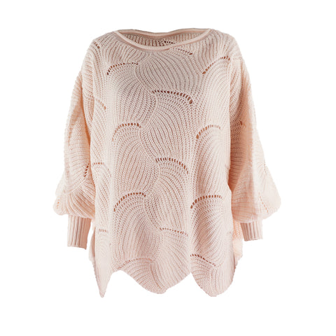Plus Size Winter Bat Sleeve Solid Pullover Loose Sweater Sale